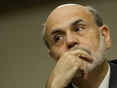 Bernanke says economy is close to faltering