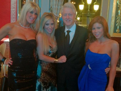 Bill Clinton caught surrounded by porn stars