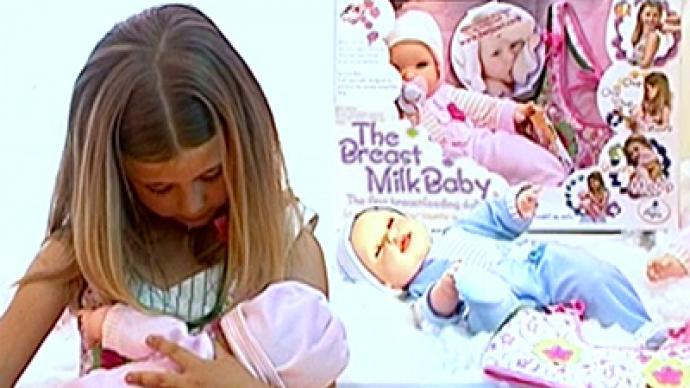 Breast-feeding doll shocks Americans