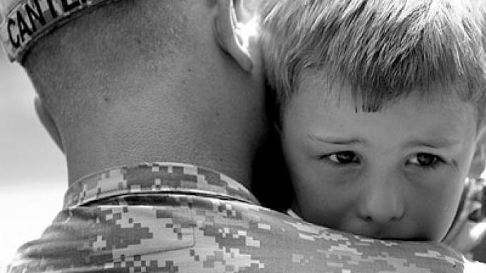 Children of soldiers suffering with mental health problems