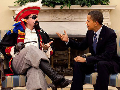 Fox News flubs on Obama pirate picture