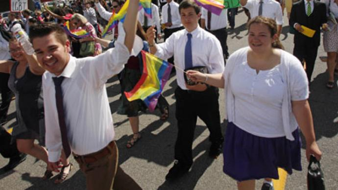 Mormons for gays steal Pride festival