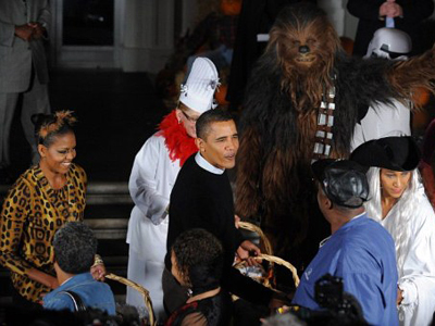 Obamas' lavish Halloween party amid American crisis