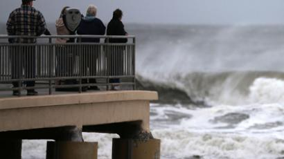 New York flooding hits Irene levels as monstrous storm makes landfall