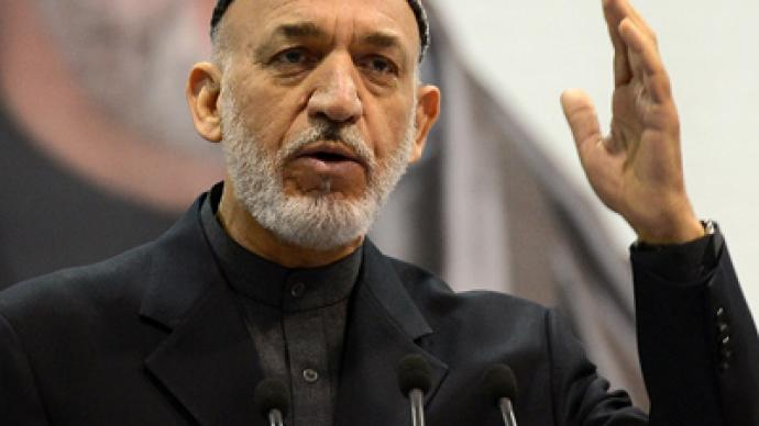 Karzai blames the US for Afghan corruption