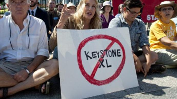 Widespread protests force move of Keystone pipeline