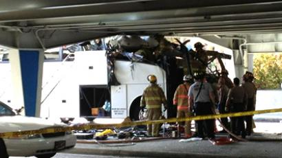 Seven dead, 38 injured in California tour bus crash (VIDEO, PHOTOS)