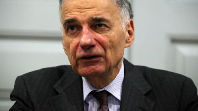 Ralph Nader: 'Obama is a war criminal'