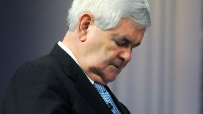 Newt Gingrich dozes off during AIPAC address
