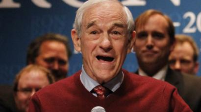 Troops march on the White House for Ron Paul