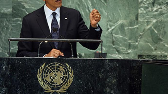 Obama threatens Iran in UN speech