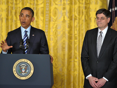 Obama nominates Jack Lew, White House chief of staff, as new secretary of Treasury