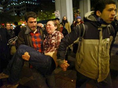 Police brutality and harsh tactics at OWS