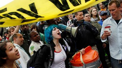 OWS to 'use bodies as weapons against the one percent' - activist