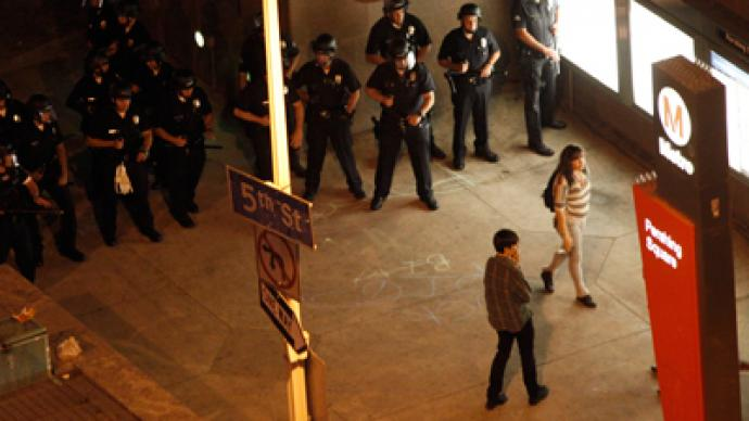 LAPD clashes with Occupy protesters at Art Walk, 19 arrested (PHOTOS)