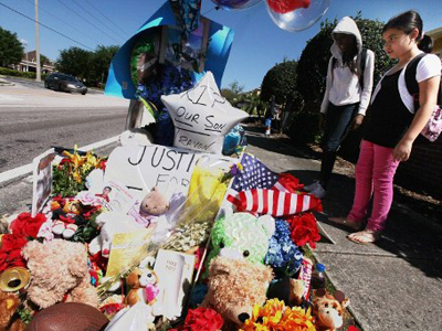 Shots fired at cop car near scene of Trayvon Martin's death