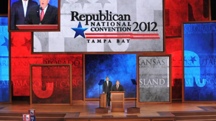 Romney wins delegate count as hurricane, dissent dog Republican convention (PHOTOS)