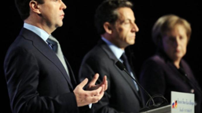 Under terrorist cloud, Medvedev, Merkel and Sarkozy meet for security summit