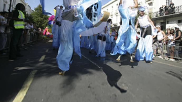 Stilt walkers ready to break a record