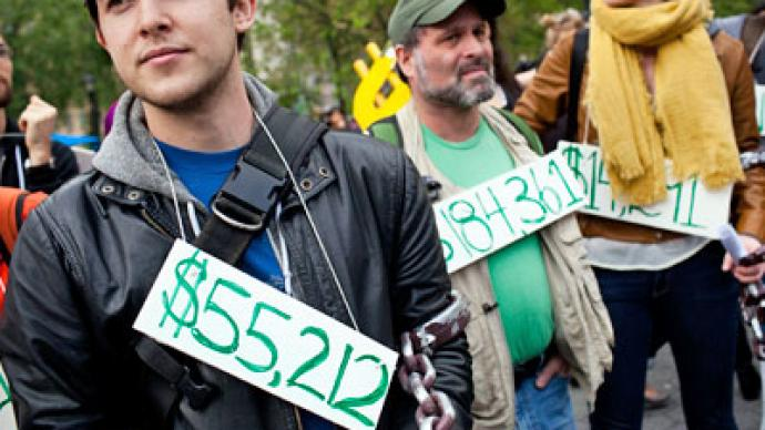 'Trillion Dollar Debt Day:' US students write off unbearable dues in protest (PHOTOS)
