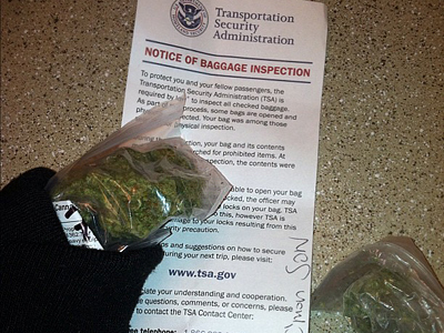 TSA lets rapper keep his weed