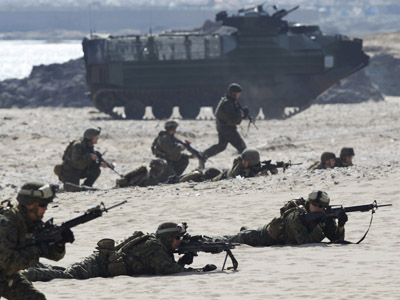 US troops imitate invasion of Iran with Arab allies