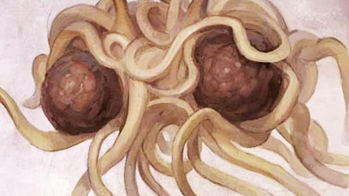 The Flying Spaghetti Monster is not pleased