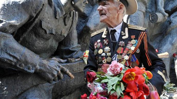 V-Day marked in Russia, overlooked in America
