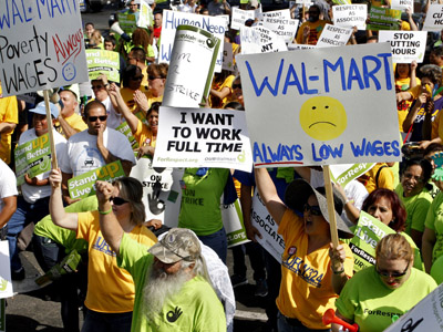 Walmart protesters arrested in cities across US