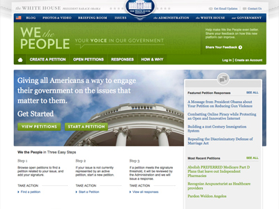 Threshold for White House petitions raised to 100,000