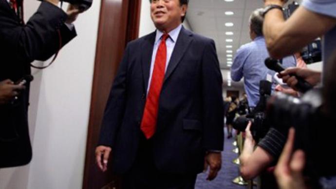 Tiger suit congressman finally resigns
