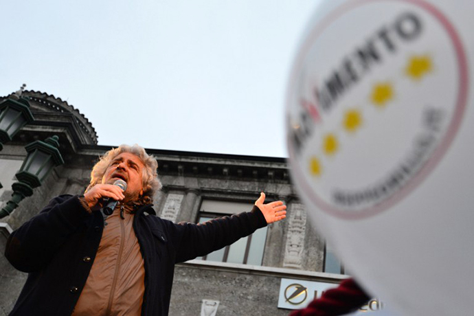 The head of the populist Five Star Movement, comedian Beppe Grillo. (AFP Photo / GiuseppeCacace))