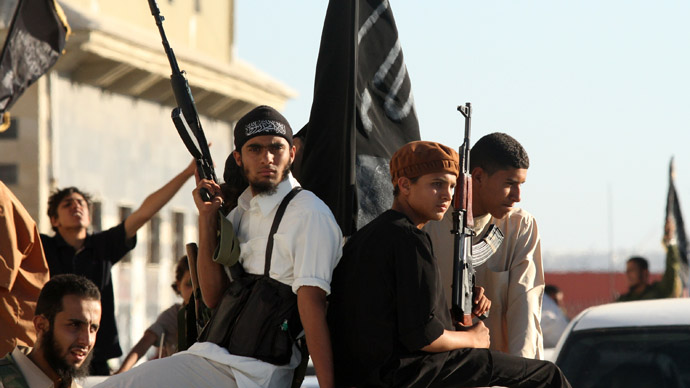 Anti-Gaddafi fighters take part in a demonstration in Benghazi June 7, 2012 to demand the application of Islamic law, or Sharia law, in Libya. (Reuters/Esam Al-Fetori)