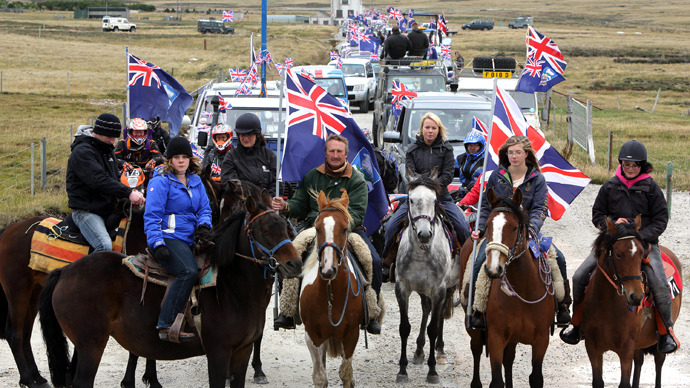 British double-standards in the Falklands