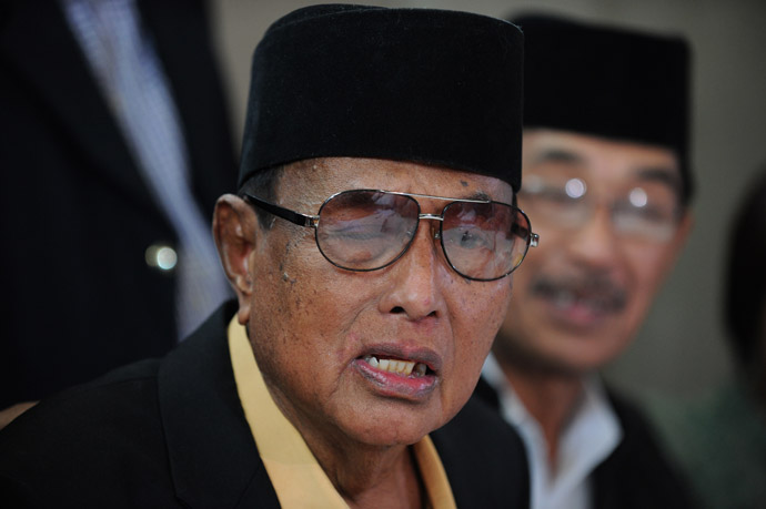 The self-proclaimed Sultan of Sulu Jamalul Kiram III (AFP Photo)