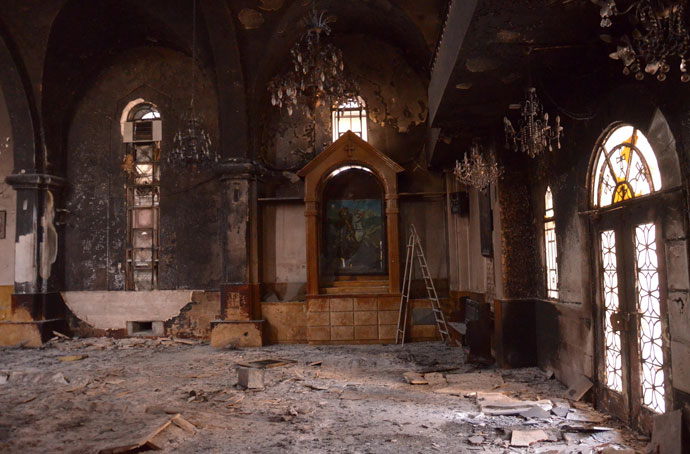 The Armenian St. Kevork Church (Saint George) is seen in the northern Syrian city of Aleppo.(AFP Photo / STR)