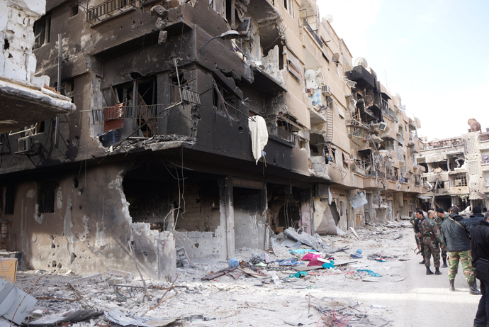 This is how Darayya warzone looks like. (RT photo/Nadezhda Kevorkova)