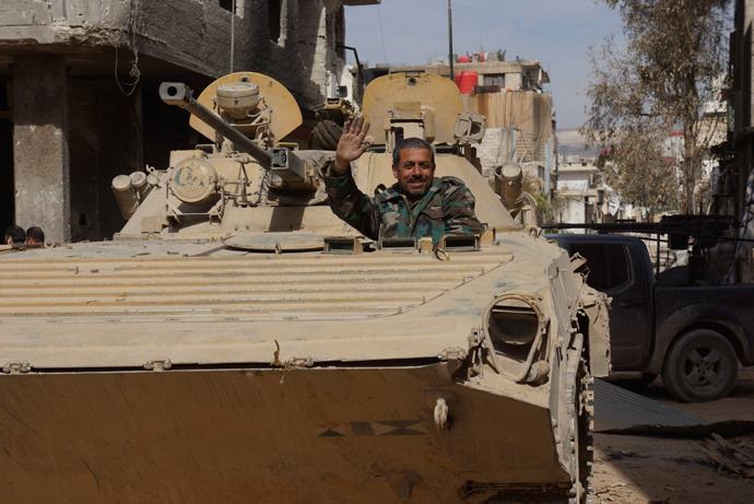 The old guard of the Syrian army. (RT photo/Nadezhda Kevorkova)
