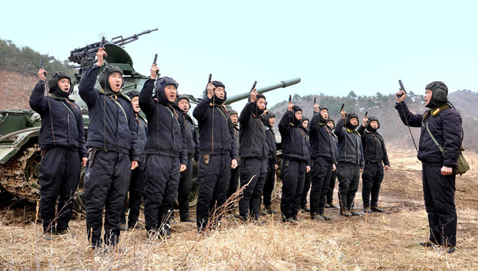 North Korean soldiers attend military drills in this picture released by the North's official KCNA news agency in Pyongyang March 20, 2013. (Reuters/KCNA)
