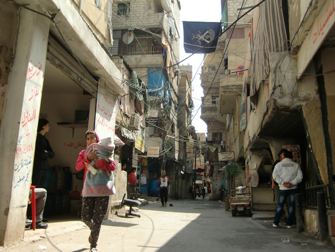 PFLP symbolics in the Palestinian refugee camp