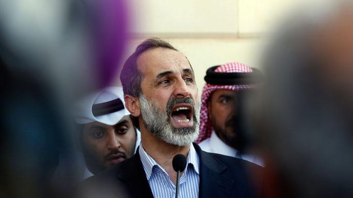 Ahmed Moaz al-Khatib.(AFP Photo / Karim Sahib)