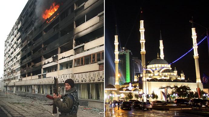 Grozny in 1995 ( L ) and 2011 (R) (AFP Photo / Michael Evstafiev / Stringer)
