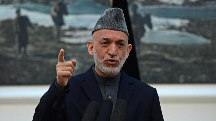 Afghanistan President Hamid Karzai (AFP Photo)