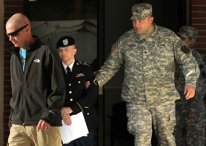 Pfc. Bradley E. Manning (AFP Photo / Alex Wong)