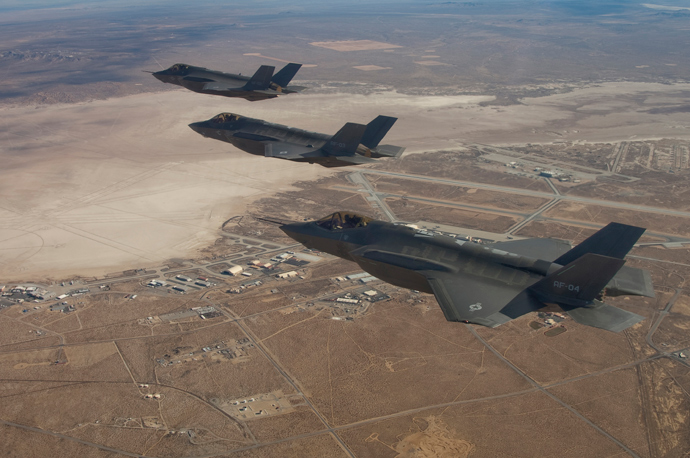 Three F-35 Joint Strike Fighters (Reuters / Lockheed Martin / Darin Russell / Handout)