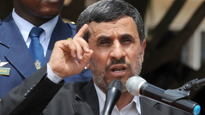 Iranian President Mahmoud Ahmadinejad.(AFP Photo / Plus Utomi Ekpei)