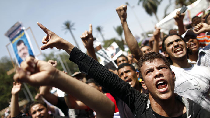 Egyptian supporters of the Muslim Brotherhood.(AFP Photo / Mahmud Khaled)