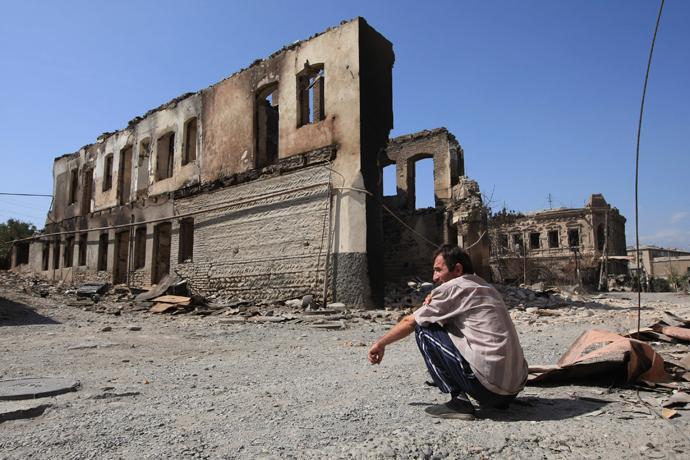 Tskhinvali after Georgian bombardment (RIA Novosti / Mikhail Fomichev)