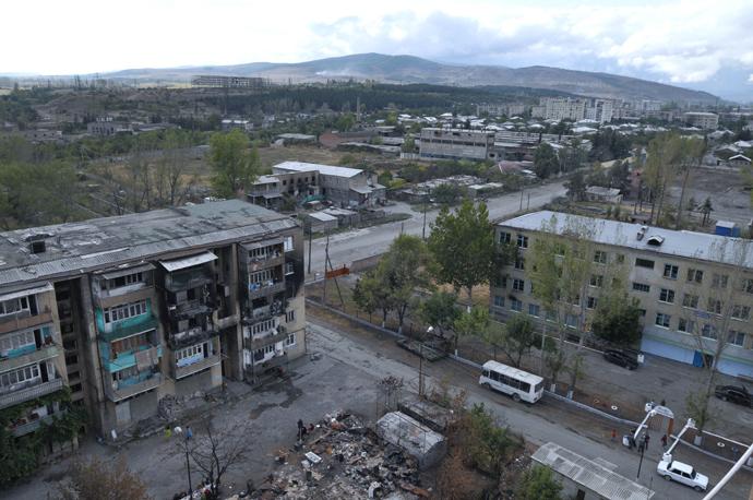 Destroyed houses in Tskhinvali (RIA Novosti / Andrey Arkhipov)