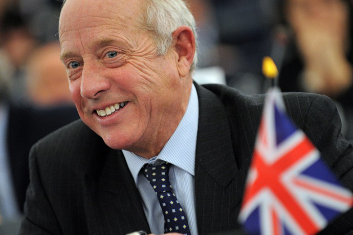 Britain's United Kingdom Independence Party (UKIP) and member of the European Parliament Godfrey Bloom (AFP Photo / Frederick Florin)